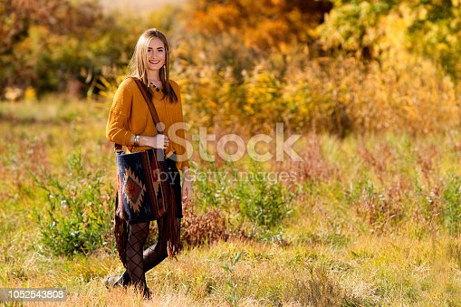 509923232 istock photo Fall Portrait of a Beautiful young woman 1052543808