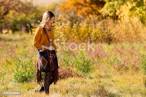 509923232 istock photo Fall Portrait of a Beautiful young woman 1052543942