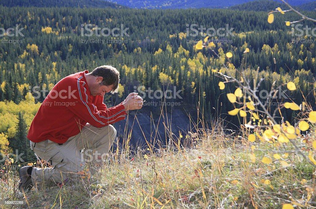 Fall Prayer stock photo