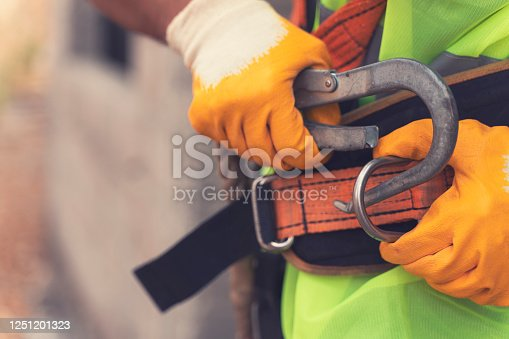 istock Fall Protection Systems; full harness type safety belt 1251201323