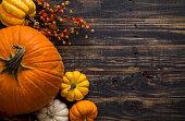 istock Fall Pumpkin Holiday Background 610046864