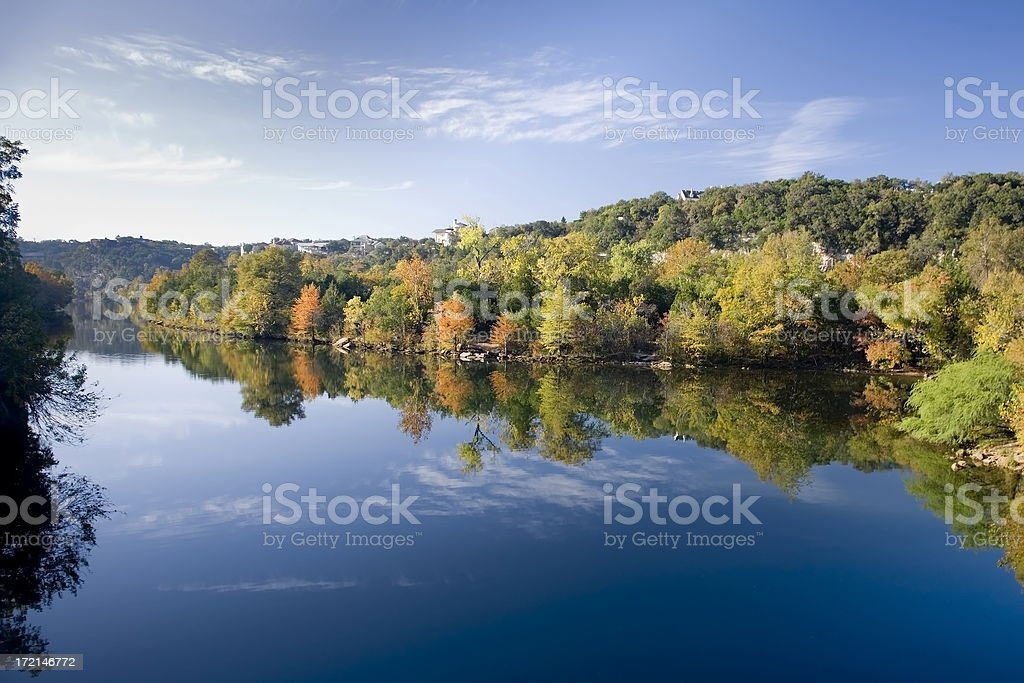 Fall reflections in water royalty-free stock photo