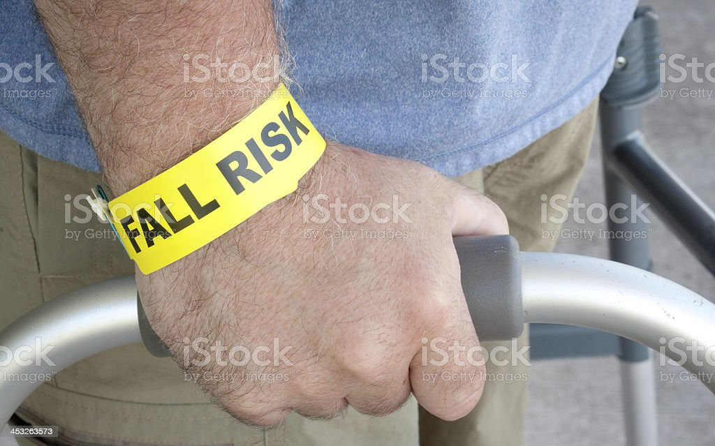 Fall Risk Close Up stock photo