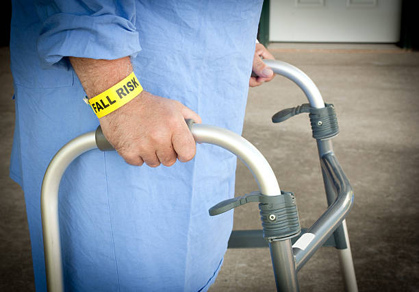 fall risk patient at the hospital - inpatient stock pictures, royalty-free photos & images