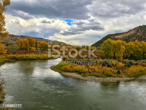 Colorado River bend in the fall