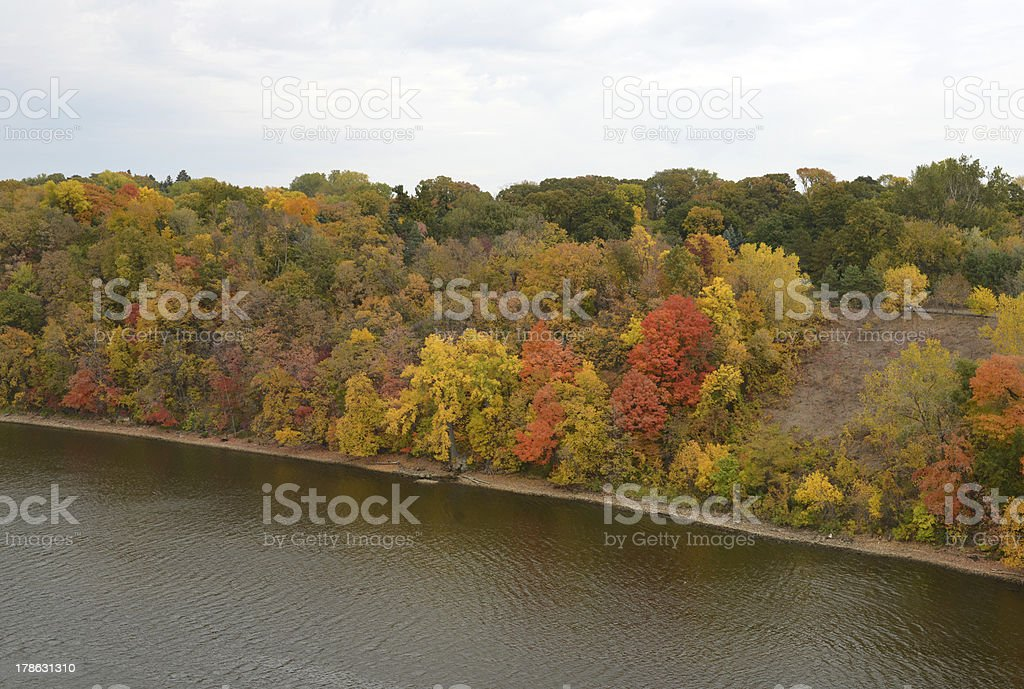 Fall Riverbank royalty-free stock photo