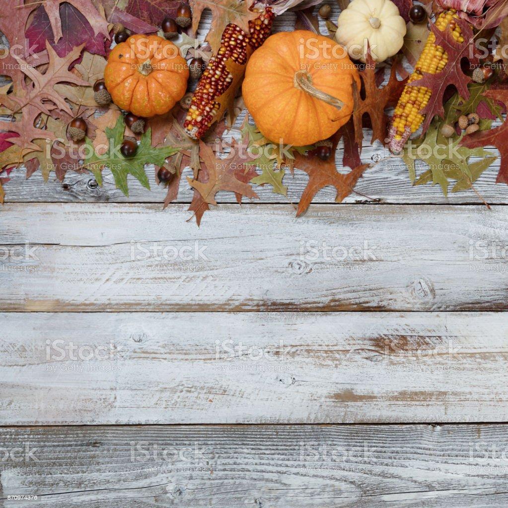 Fall Seasonal Decorations stock photo