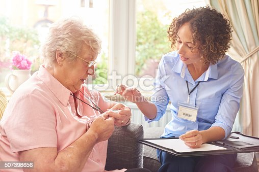 istock fall sensor pendant for senior woman 507398656