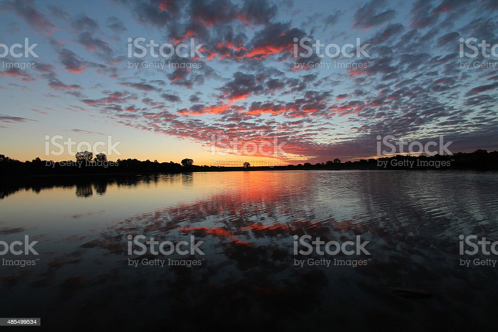 Fall Sunrise stock photo