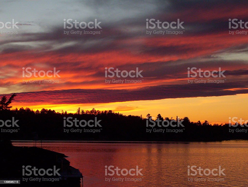 Fall Sunset II royalty-free stock photo