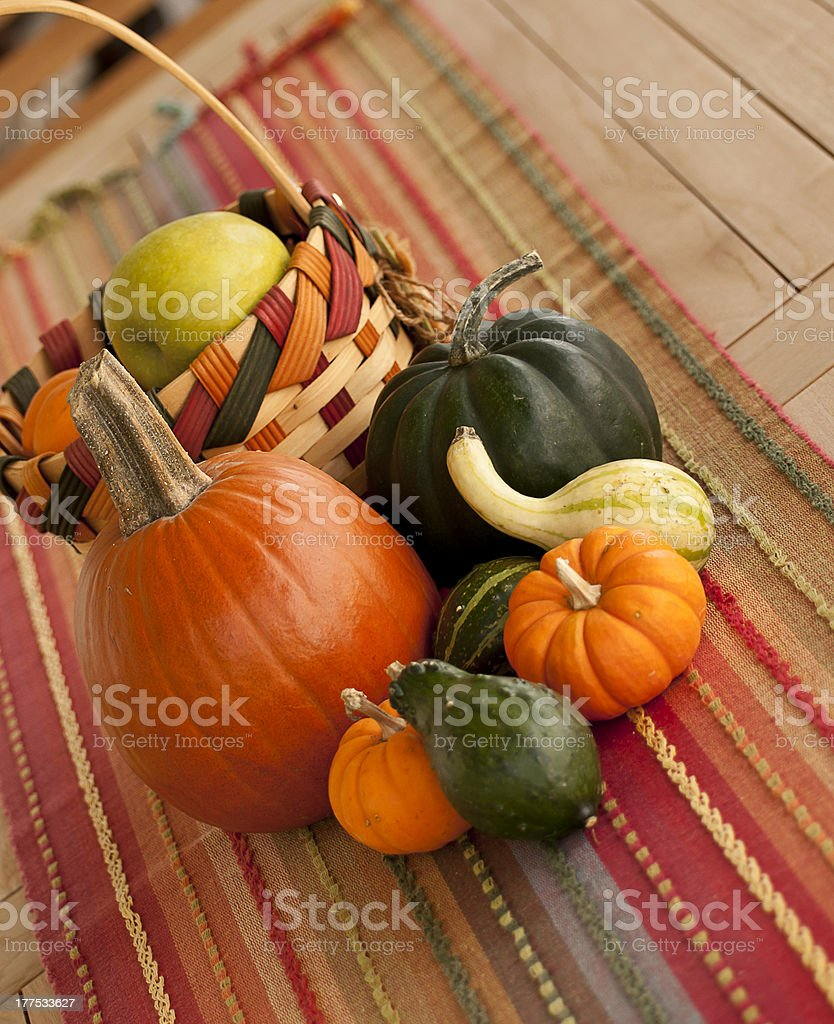 Fall Table Arrangement stock photo