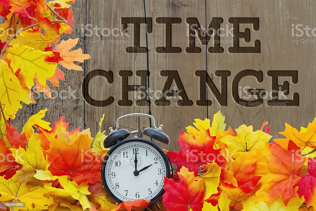 Fall Time Change stock photo