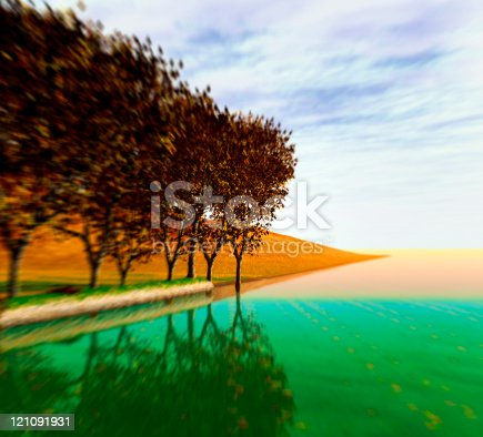 istock Fall time in park 121091931