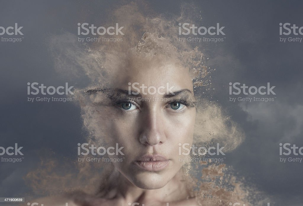fall to powder stock photo