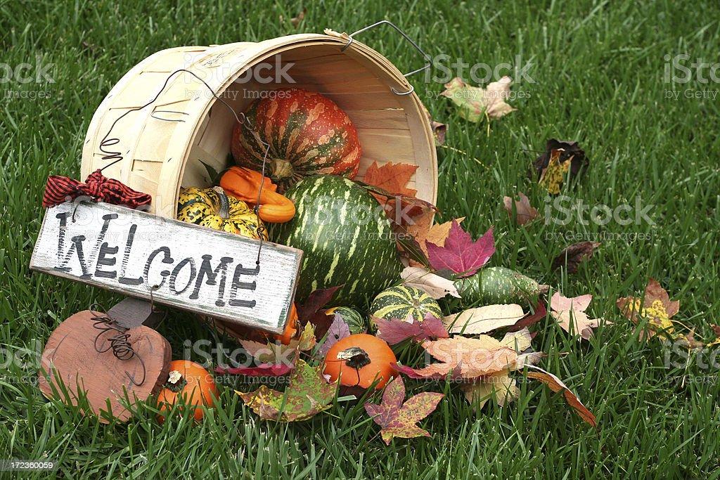 fall welcome royalty-free stock photo