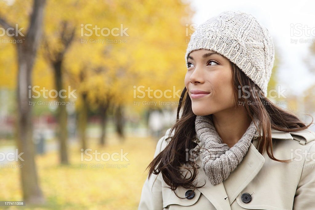 Fall woman looking portrait royalty-free stock photo