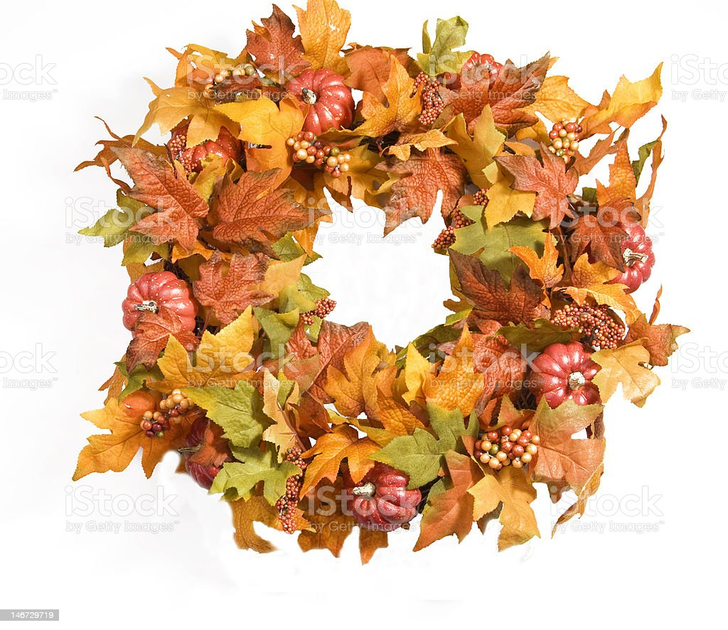 Fall Wreath stock photo