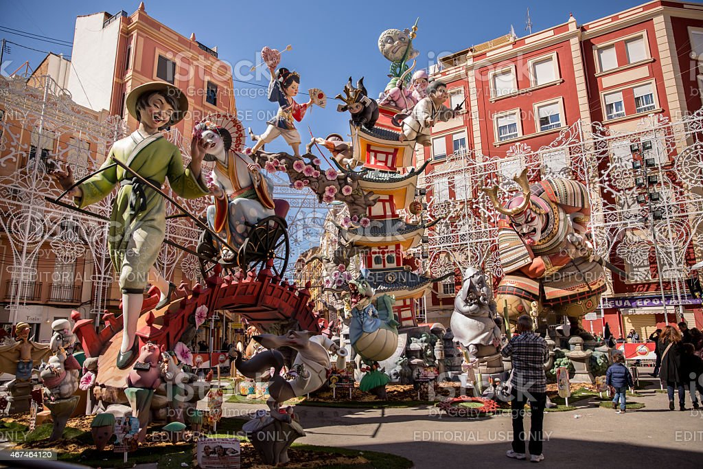 Fallas of Valencia. China theme stock photo