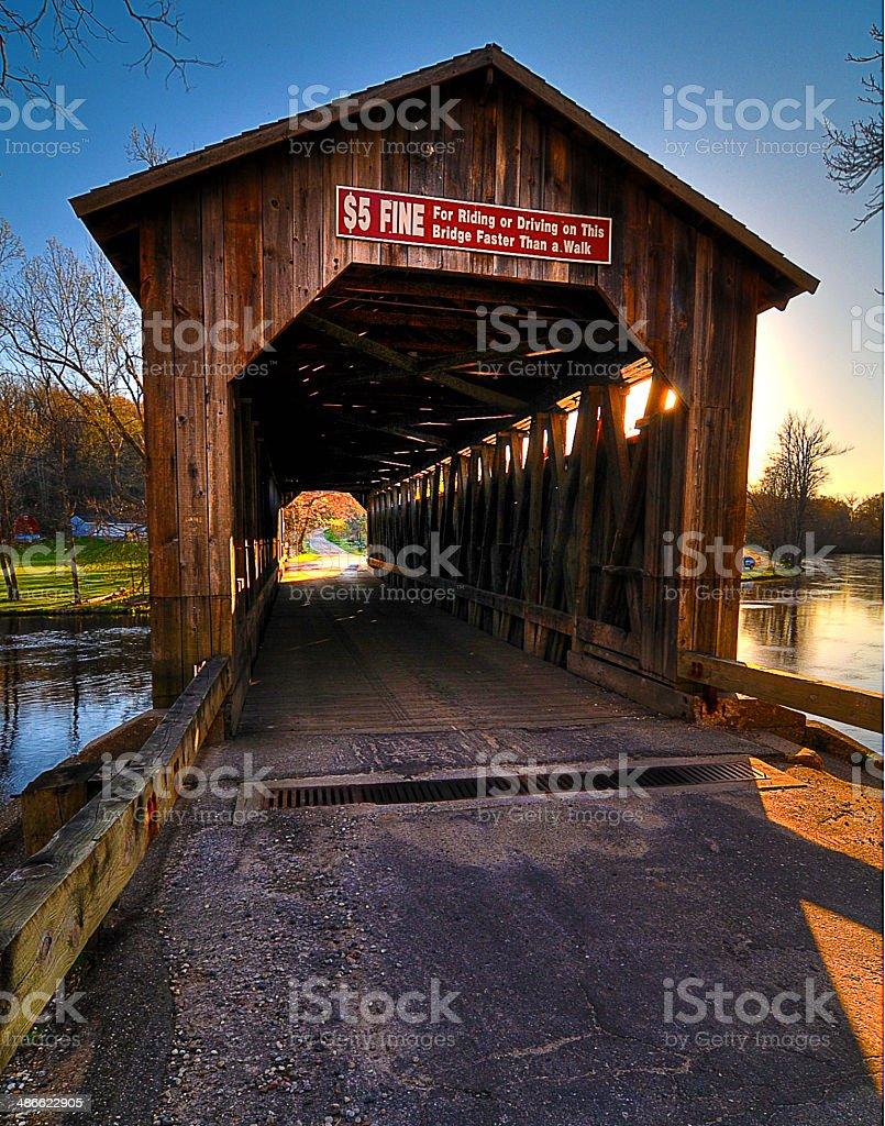 Fallasburg Covered Bridge stock photo