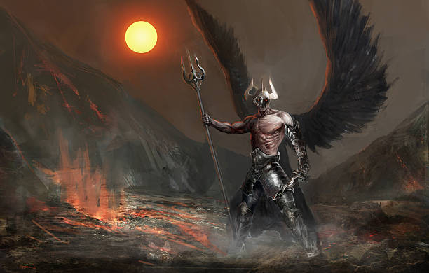fallen angel - demon stock photos and pictures