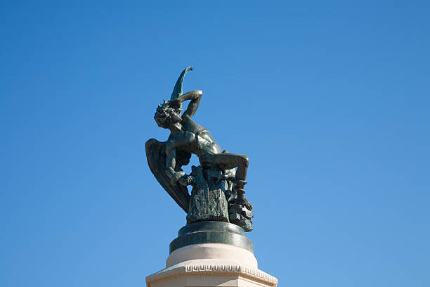 fallen angel-statue in Madrid, Spanien – Foto