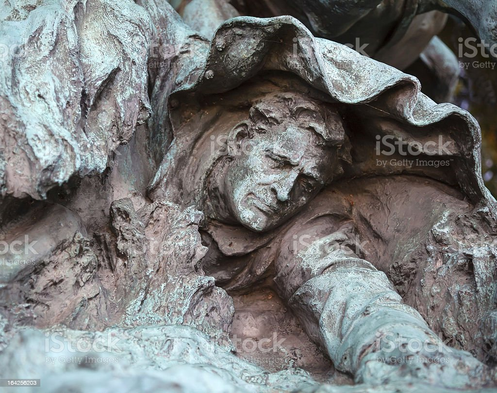 Fallen Calvary Man US Grant Memorial Capitol Hill Washington DC royalty-free stock photo