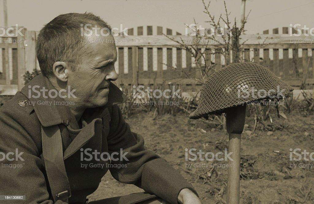 Fallen Comrade. stock photo