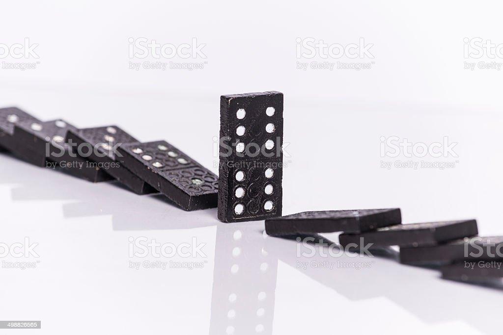 Fallen Dominos royalty-free stock photo