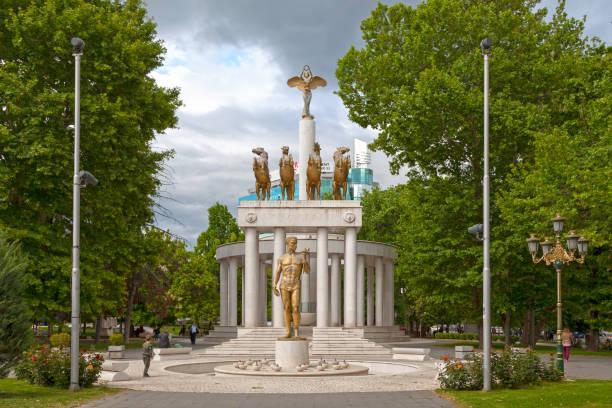 Fallen Heroes of Macedonia in Skopje stock photo