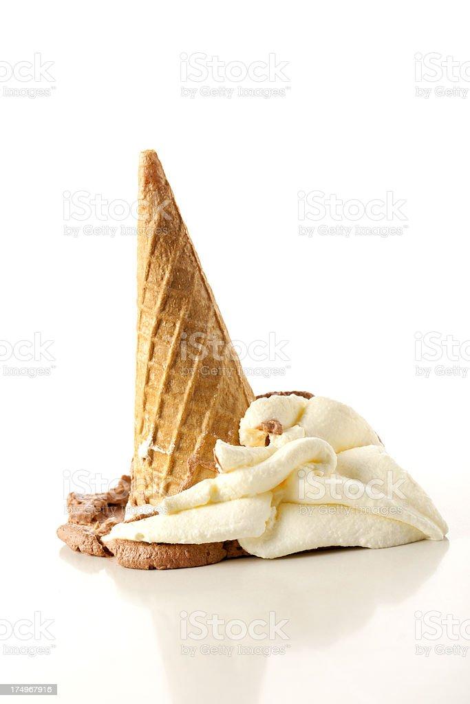 Fallen Ice cream stock photo