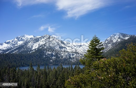 A shot of Fallen Leaf Lake, a pretty little spot not far from Lake Tahoe, a popular destination for hikers and nature lovers.