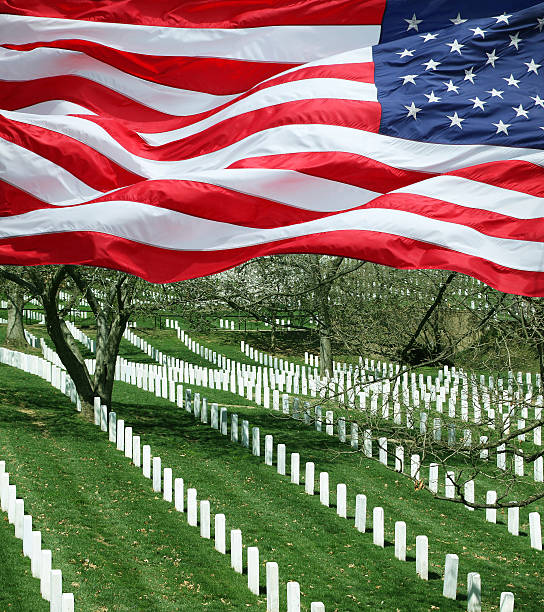 fallen military - arlington national cemetery stock pictures, royalty-free photos & images