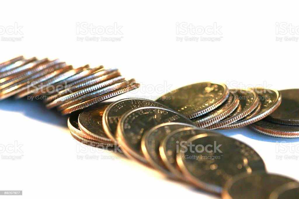 Fallen Money royalty-free stock photo