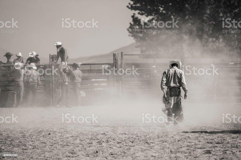 Gefallenen Rodeo-Reiter – Foto