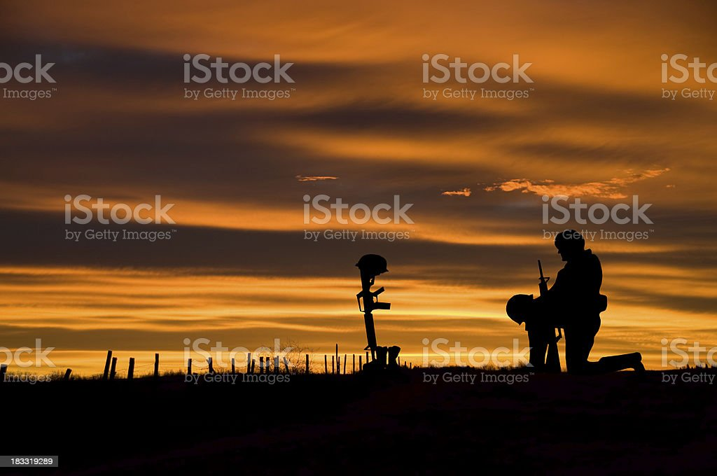 Fallen Soldier stock photo