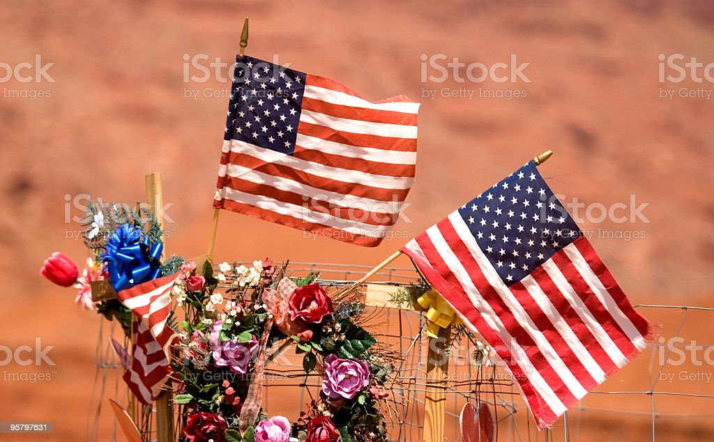 US Fallen Soldiers Roadside Memorial royalty-free stock photo