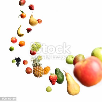 istock Falling and flying fruits 508465486