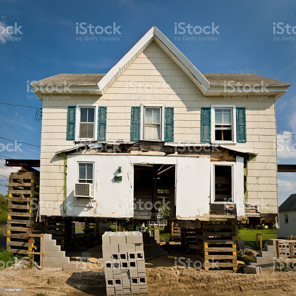falling apart house royalty-free stock photo