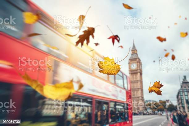 Photo of Falling Autumn Leaves In London