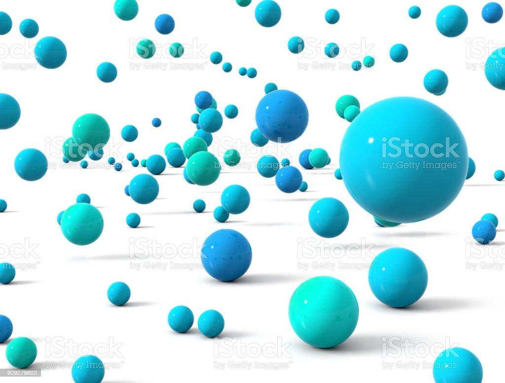 Falling ball stock photo