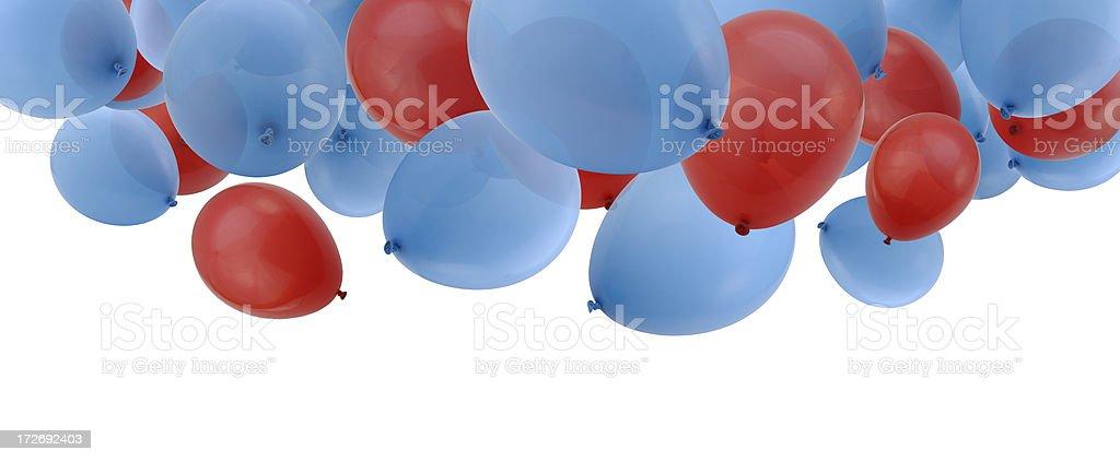 Falling Balloons royalty-free stock photo