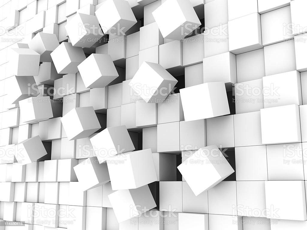Falling Blocks royalty-free stock photo