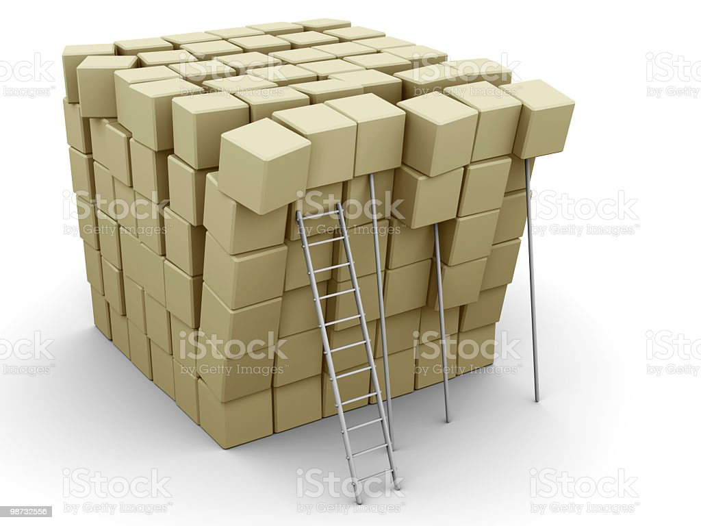 Falling boxes royalty-free stock photo