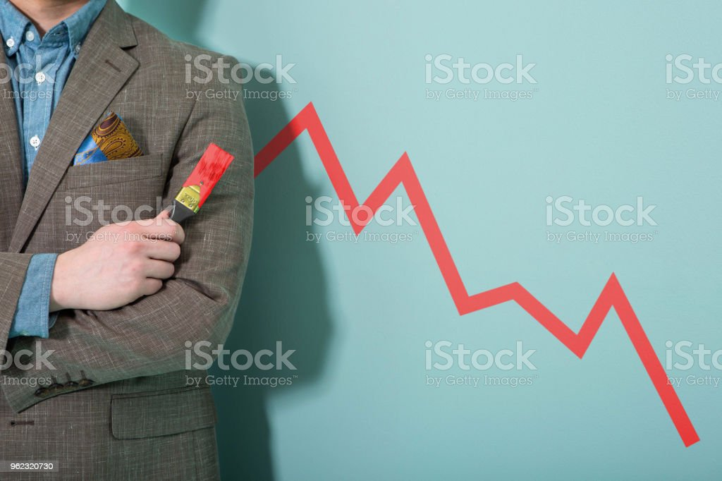 Falling business stock photo