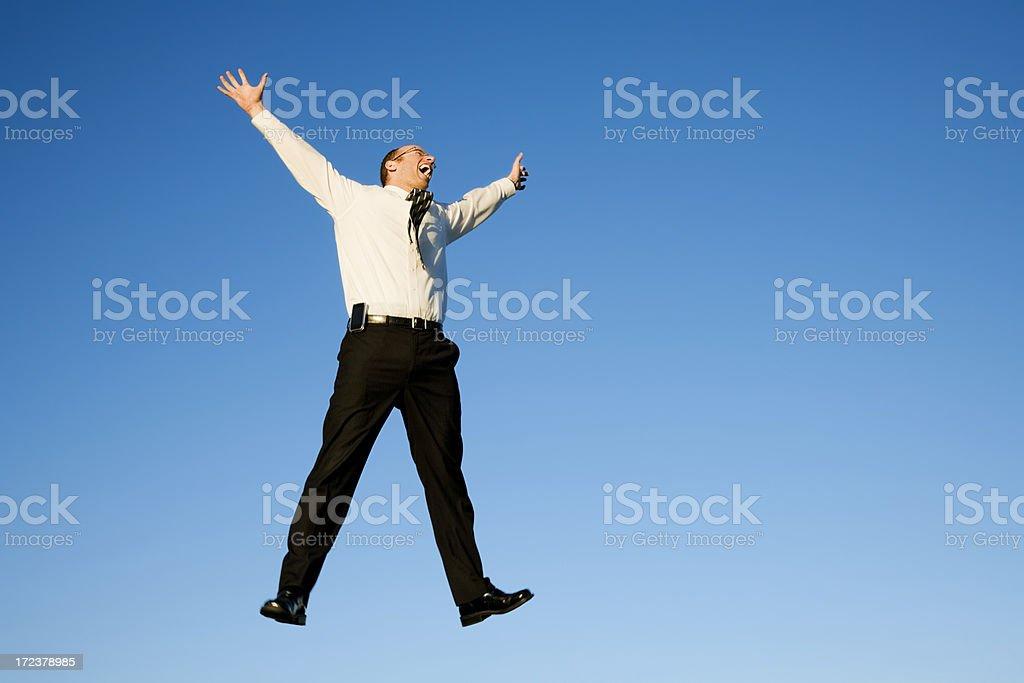Falling Businessman stock photo