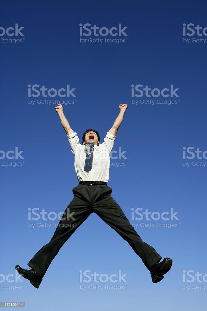 Falling businessman royalty-free stock photo