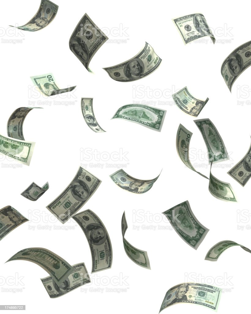 falling cash stock photo more pictures of american one hundred