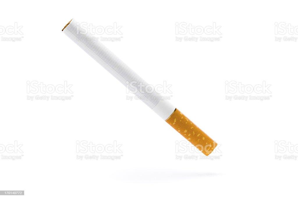 Falling cigarette stock photo