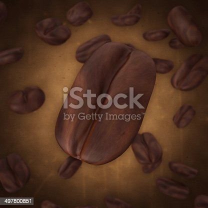 istock Falling Coffee Beans on grunge background 497800851