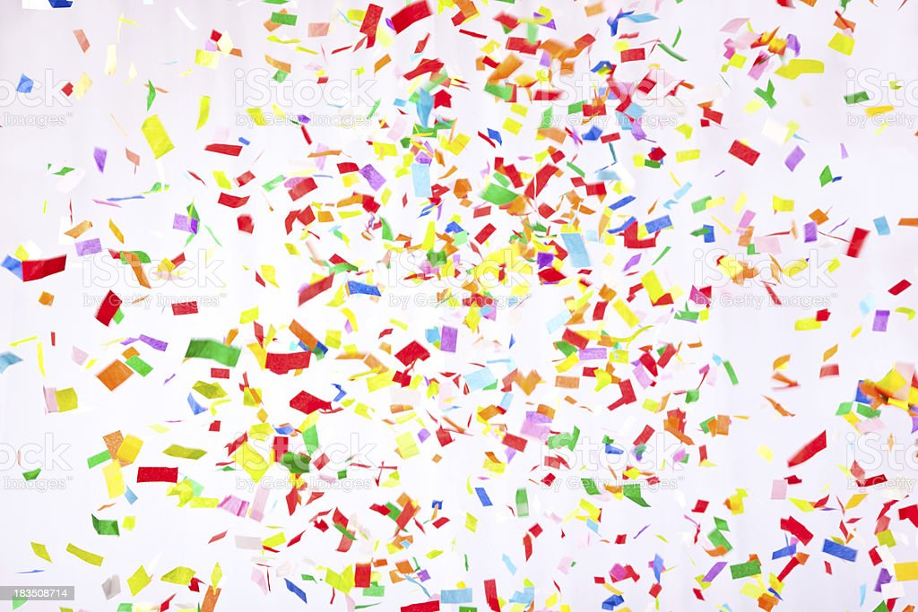 Falling confetti royalty-free stock photo